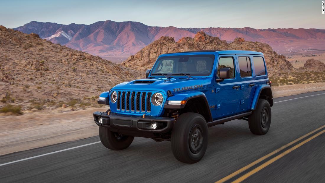 Jeep releases high horsepower V8 Wrangler