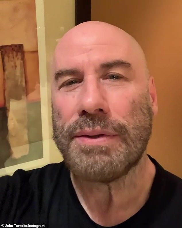 John Travolta thanks fans for their support after his wife's death