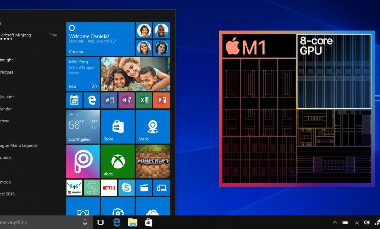 Apple M1 runs Windows on ARM faster than Surface Pro X