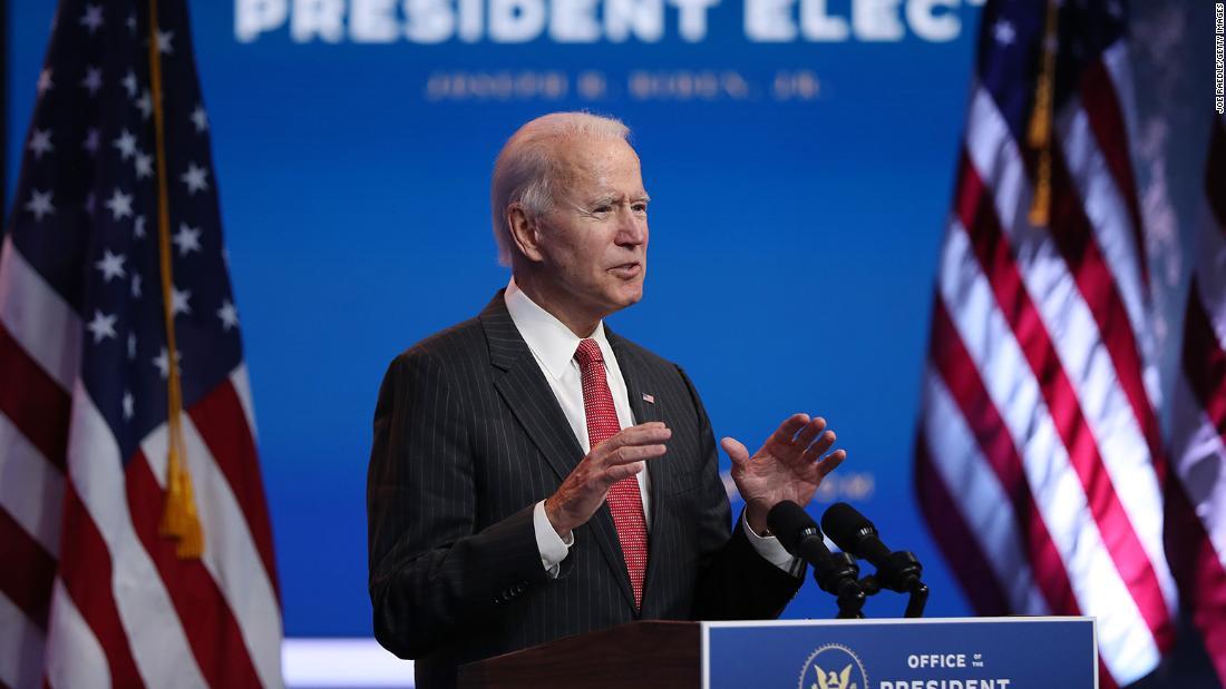 "Biden praised the Trump administration's ""honest"" approach following the GSA confirmation"