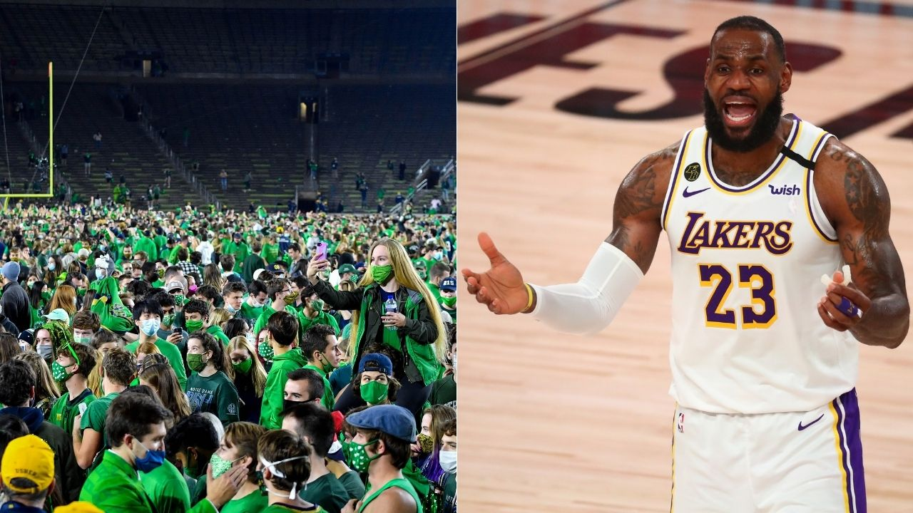 Lakers' LeBron James on Notre Dam's win over Clemson