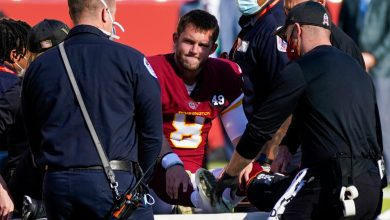Photo of Kyle Allen's injury from playing 'weird' giants is terrifying