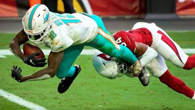 Photo of Miami Dolphins W.R. Preston Williams went to the injured reserve with a leg injury