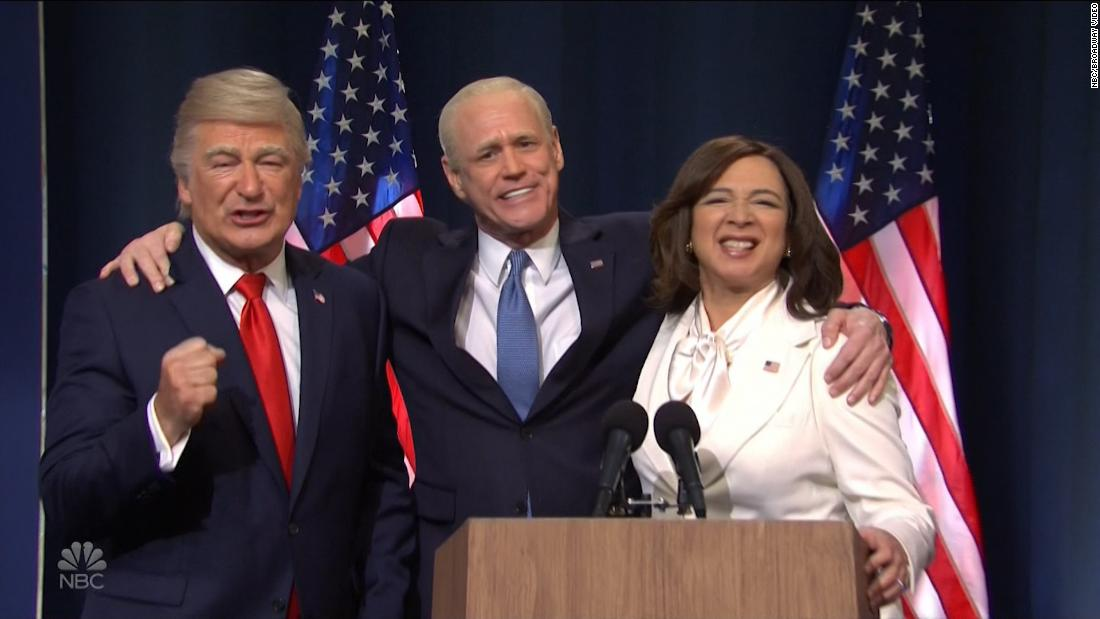 SNL shows Biden and Harris' victory speeches and Trump's' concession 'speech after the election