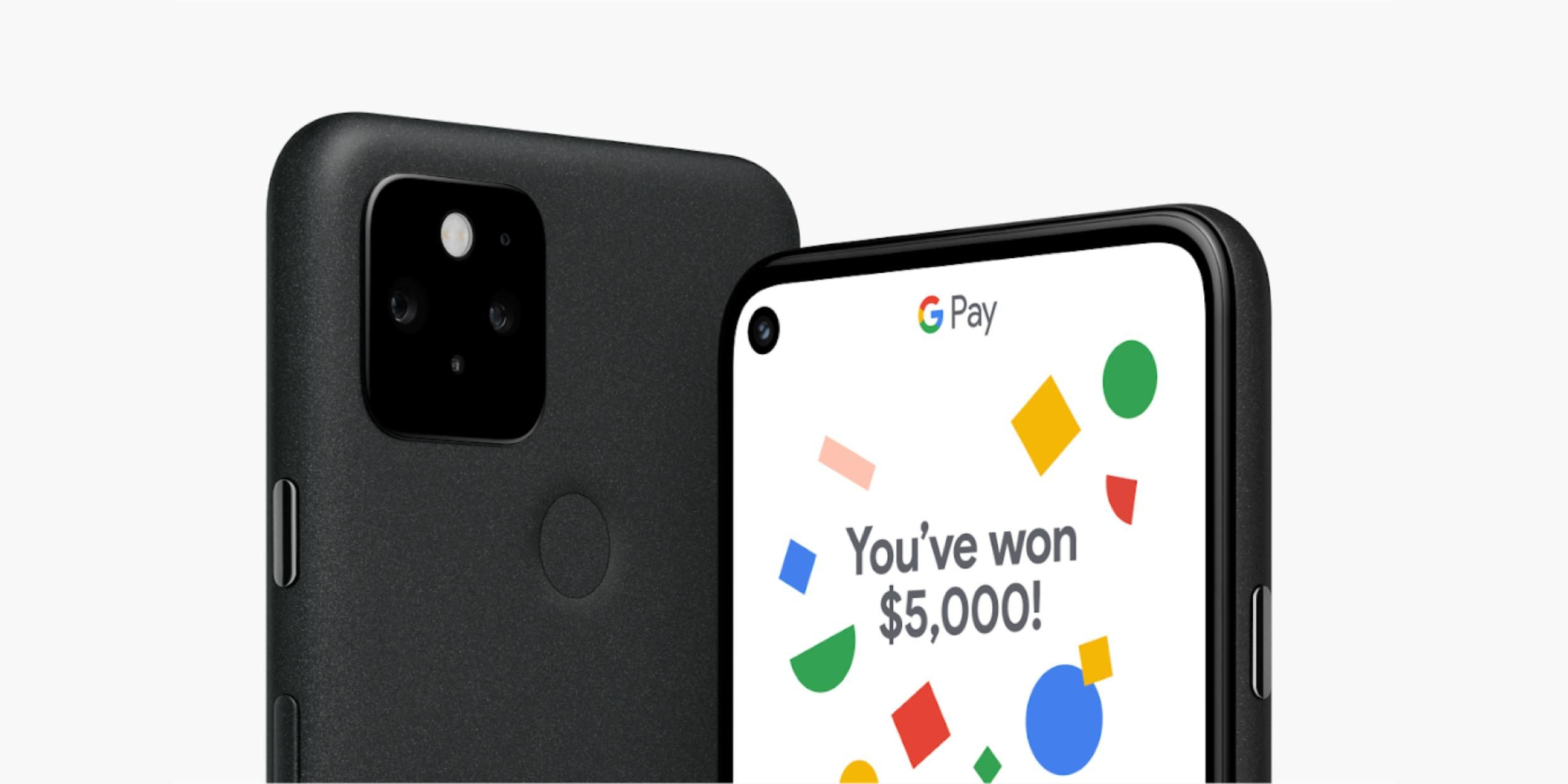 The store runs 'Pixel 5 $ 5G' sweepstakes to win $ 5,000