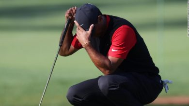 Photo of Tiger Woods Cards 10 Masters in three-by-three holes