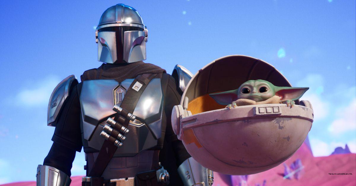 Fortnight Chapter 2: Season 5 Baby Yoda and Mandalorian are added