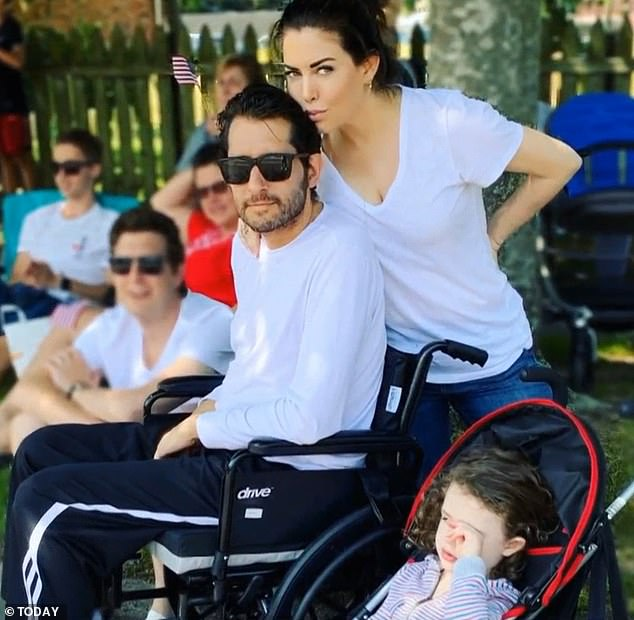 In May 2019 Thomas revealed how her husband had a stroke when he was just 40, which kept him tied to a wheelchair