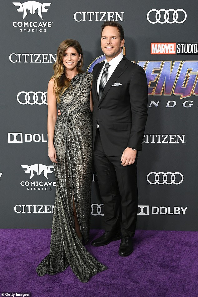 Outside and About: Katherine and her husband Chris Broad were cut off at last year's Avengers premiere in LA