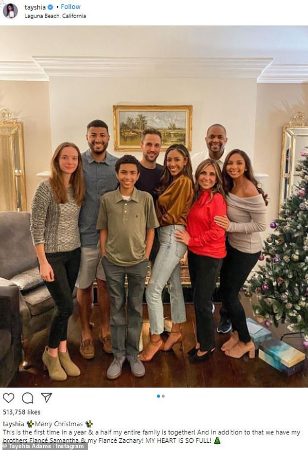 First Christmas together: Former phlebotomist previously shared photos with his family from Christmas celebration on Instagram