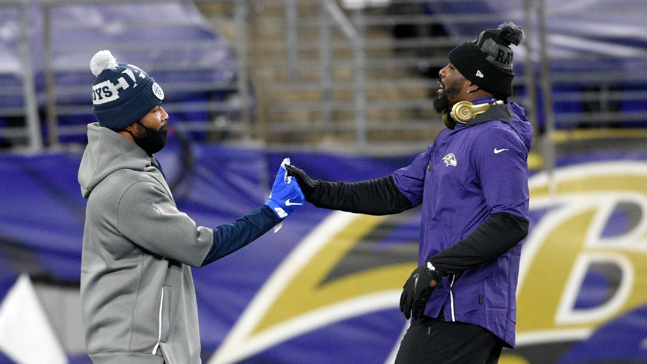 Baltimore Ravens W.R.  Des Bryant says he tested positive just before kickoff