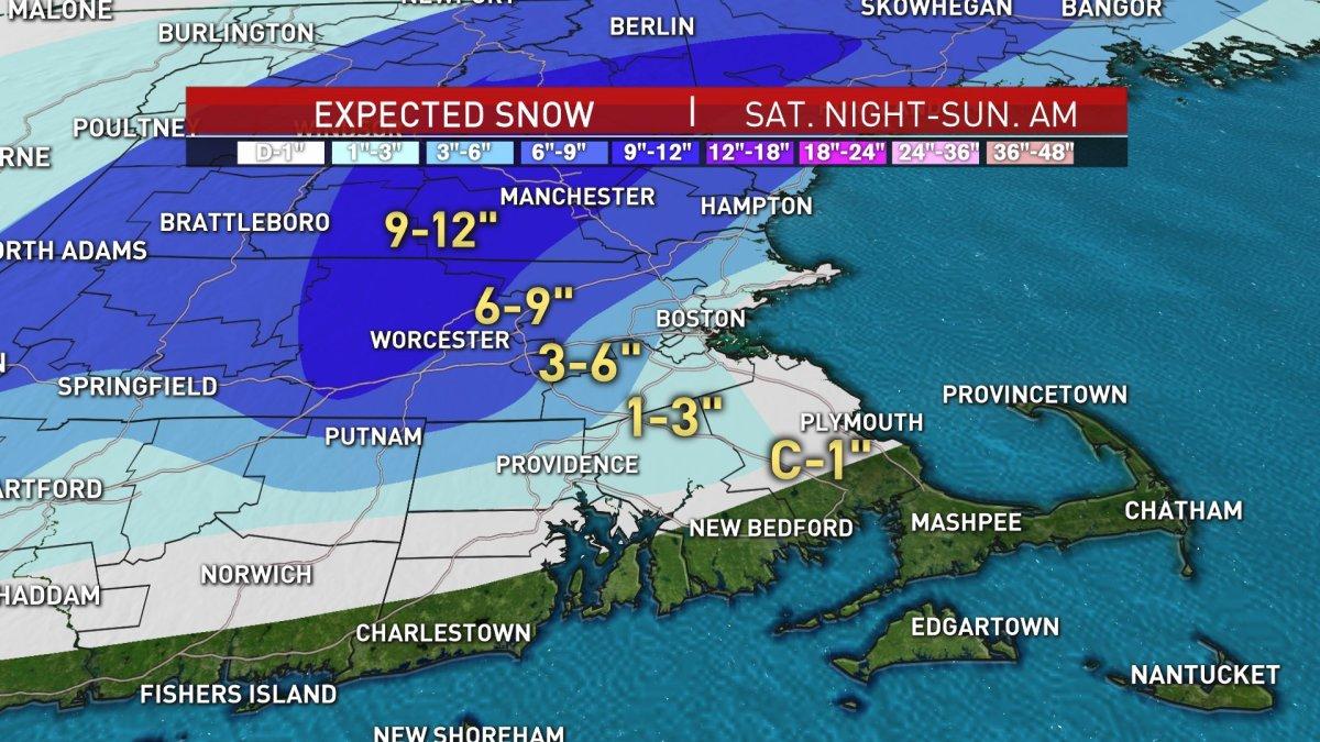 Mass, NH, VD, Maine - Winter storm warnings in NBC Boston