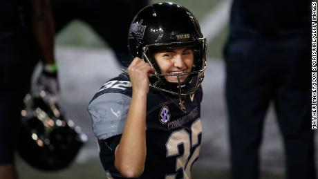 Vanderbilt footballer Sarah Fuller became the first woman to score a goal in a Power Five college football game.