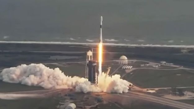 SpaceX launches US spy satellite, marks rocket landing year