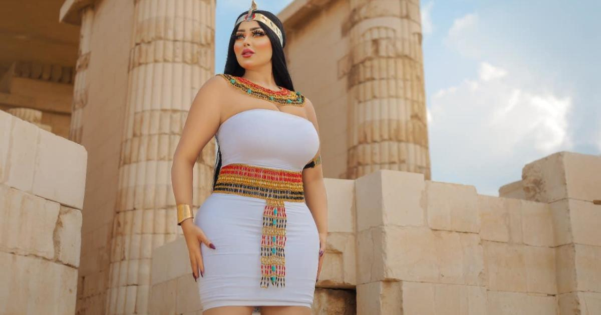 The Egyptian model was arrested in connection with a photo shoot at the ancient pyramid