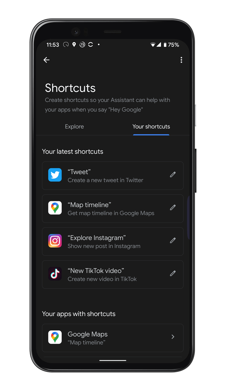 Google Assistant shortcuts, that's how you set them up