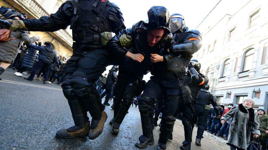 Hundreds of arrests during pro-navalny protests in Russia |  NOW