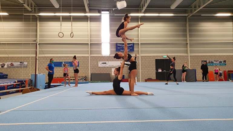 How Delta Sport hosts an acro-gym competition without breaking the rules
