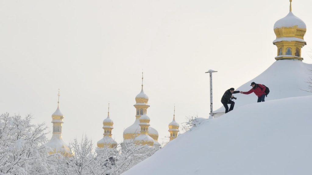 Man in Ukraine invents murder for snowy street |  NOW