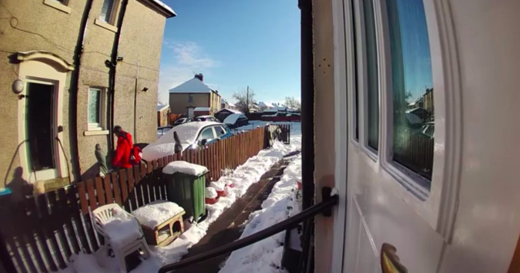 Sick woman (72 years old) falls in the snow, the postman leaves her |  Abroad