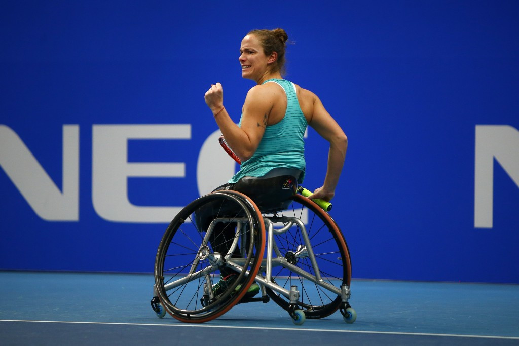 Jiske Griffioen is a former wheelchair tennis player and Paralympic champion © Getty Images