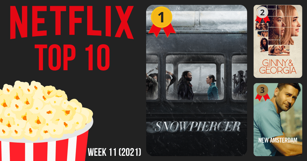Netflix Top 10 meest bekeken België week 11 2021