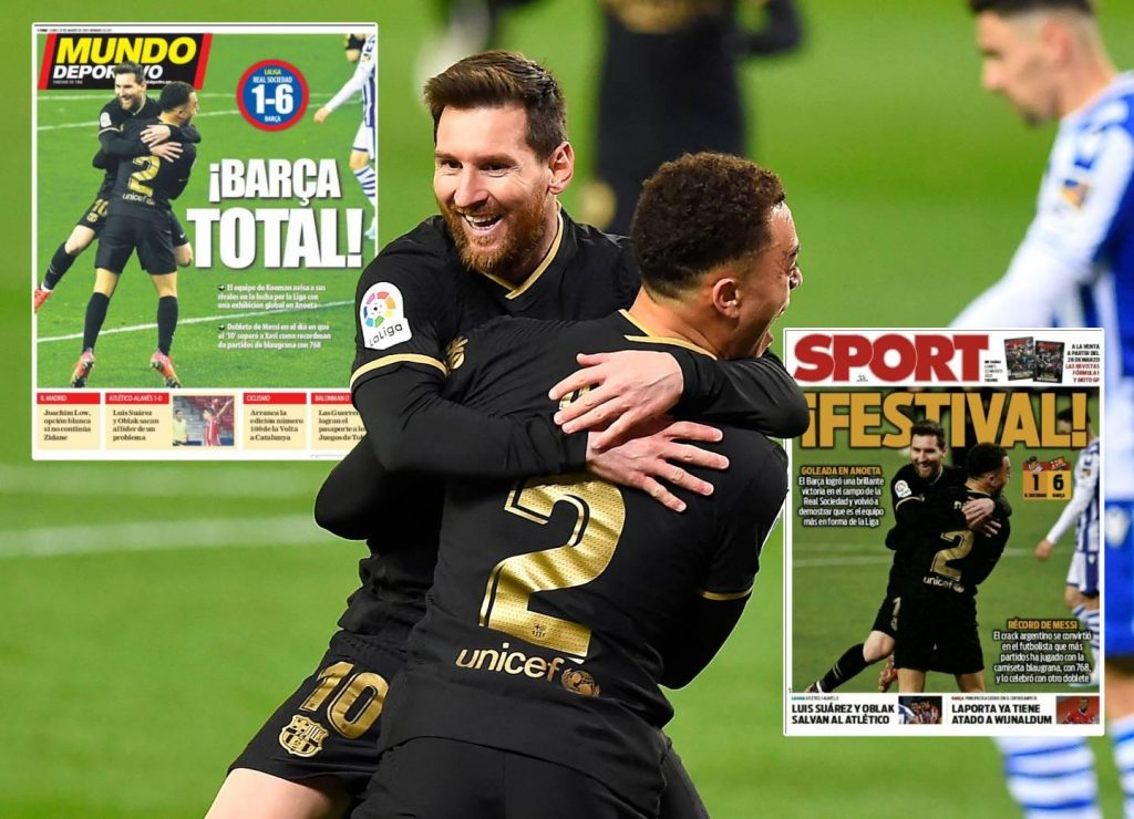 Spanish media are raving about Koeman, Dest and Frenkie de Jong: 'The Dest and the Best'