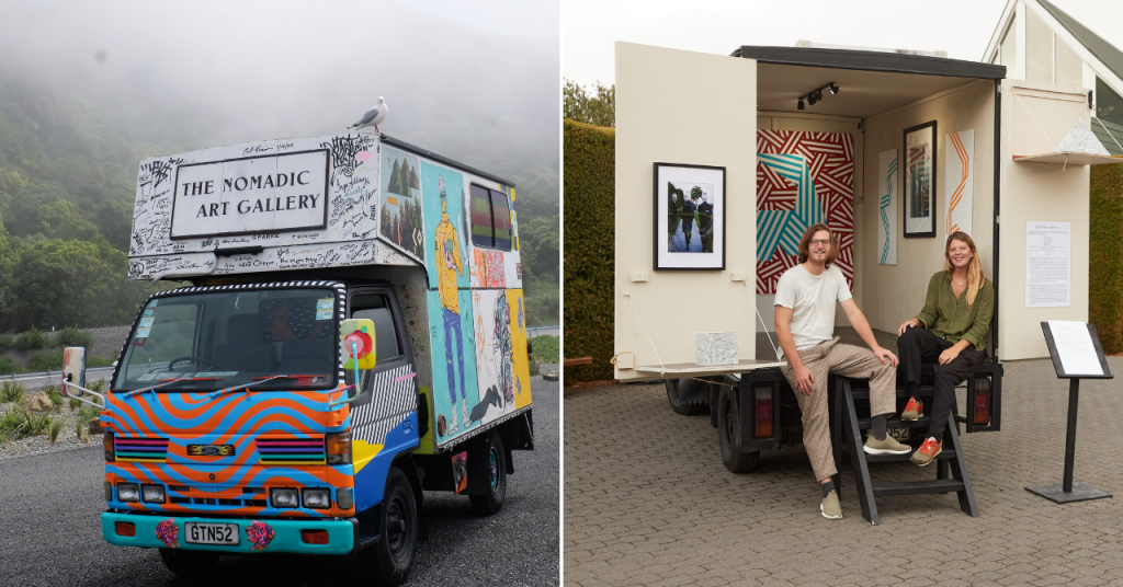 Belgian couple create traveling art gallery on the other side of the world