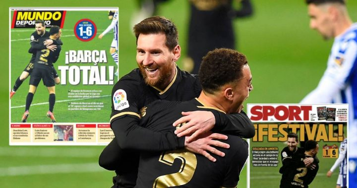 "Spanish media frantic over Barcelona: ""Frenkie de Jong was the engine"" 