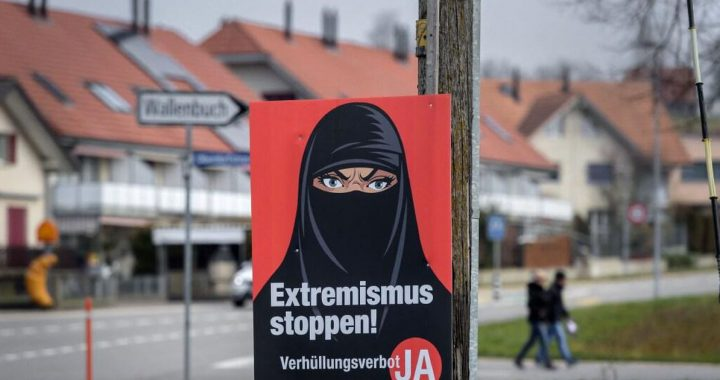 """Switzerland for the ban of the burqa and against electronic identity"" 