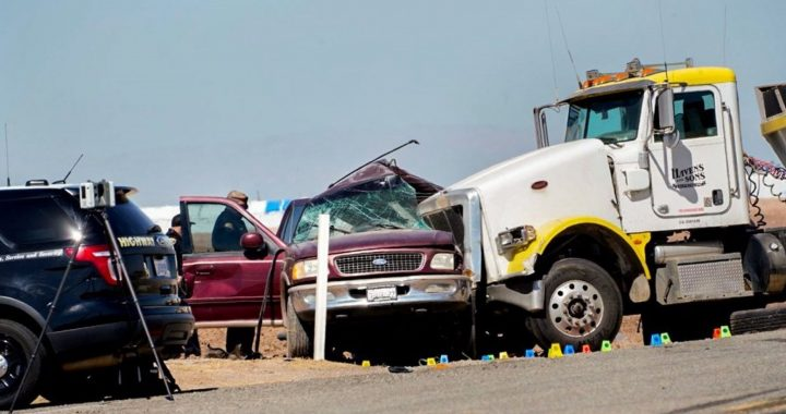 Thirteen of the 25 people in a car died in a U.S. road accident