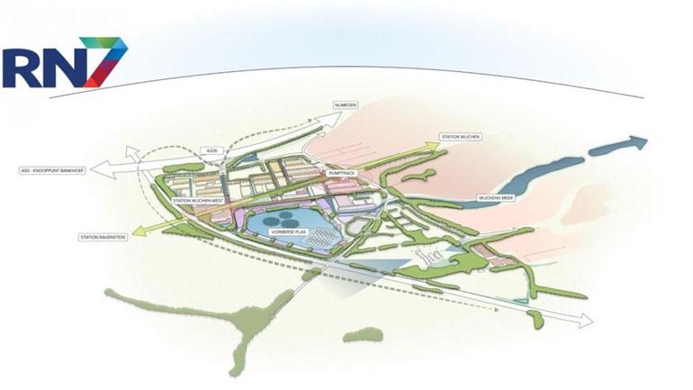 Wijchen-West wordt duurzame, 'dorpse' wijk met natuur en misschien ooit een station Foto: RN7