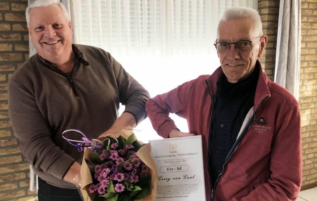 Ad van Boekel and Gerry van Gaal honorary member of the Concordia Schaijk musical association
