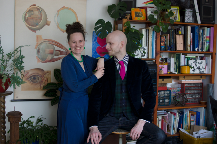 Look inside!  Rick and Veerle live in a house full of plants, color and daring art