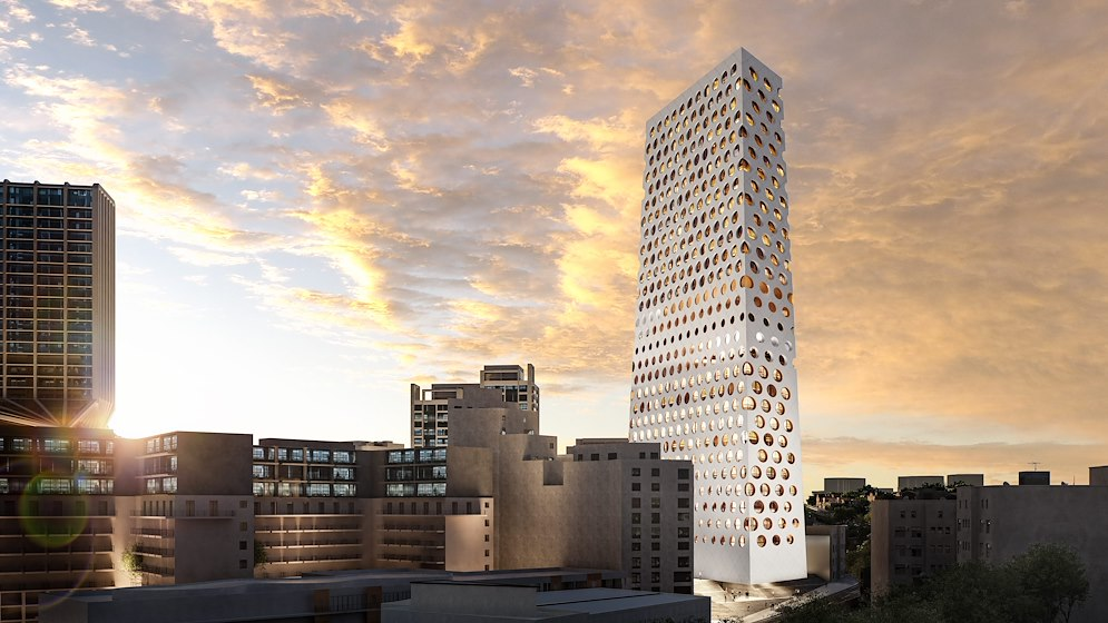 Rotterdam office designs pure and powerful tower for Malta