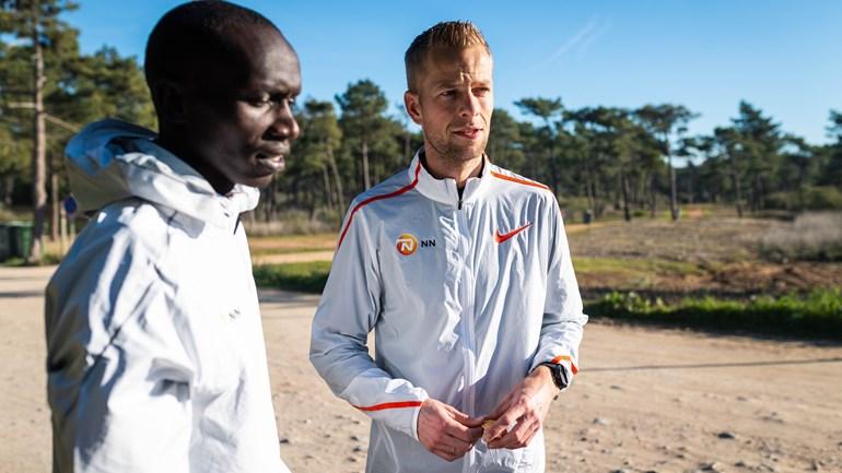 Roy Hoornweg op trainingskamp met het NN Running Team