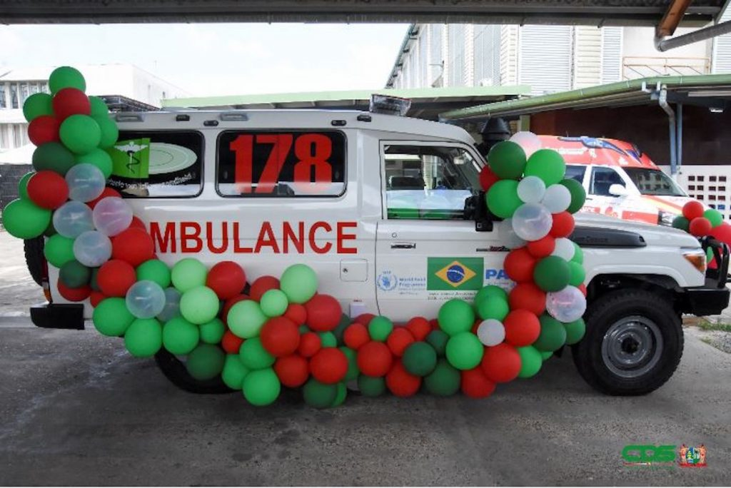 Braziliaanse overheid doneert ambulance aan Suriname