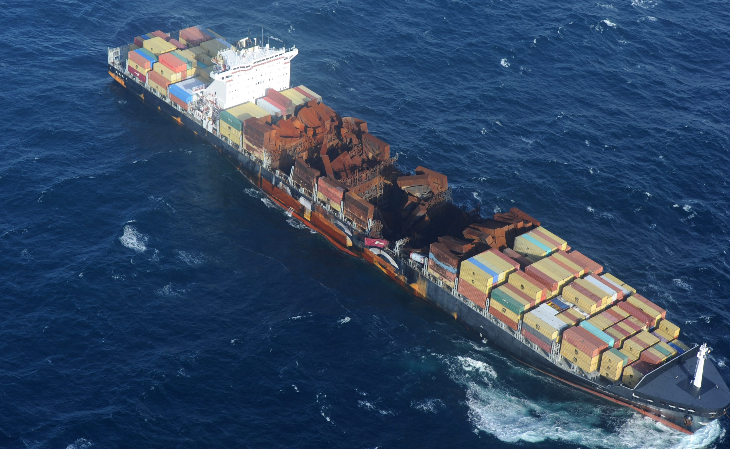 The MSC Flaminia was towed by Smit to Germany (ANP / AFP Photo)