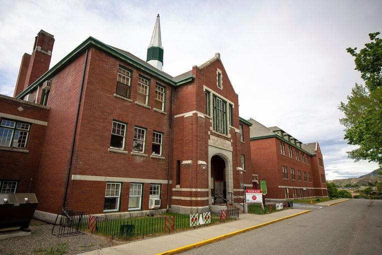 The boarding school outside.  AP Image