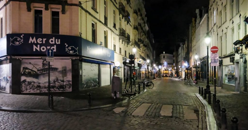 A joke on the Belgians?  In Brussels you have to go home at 10 pm, and two hours later you can go out on the street again |  Abroad