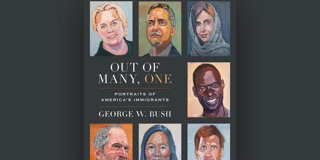 """Book of President George W. Bush """"Among the many, one: photos of immigrants to America"""""""