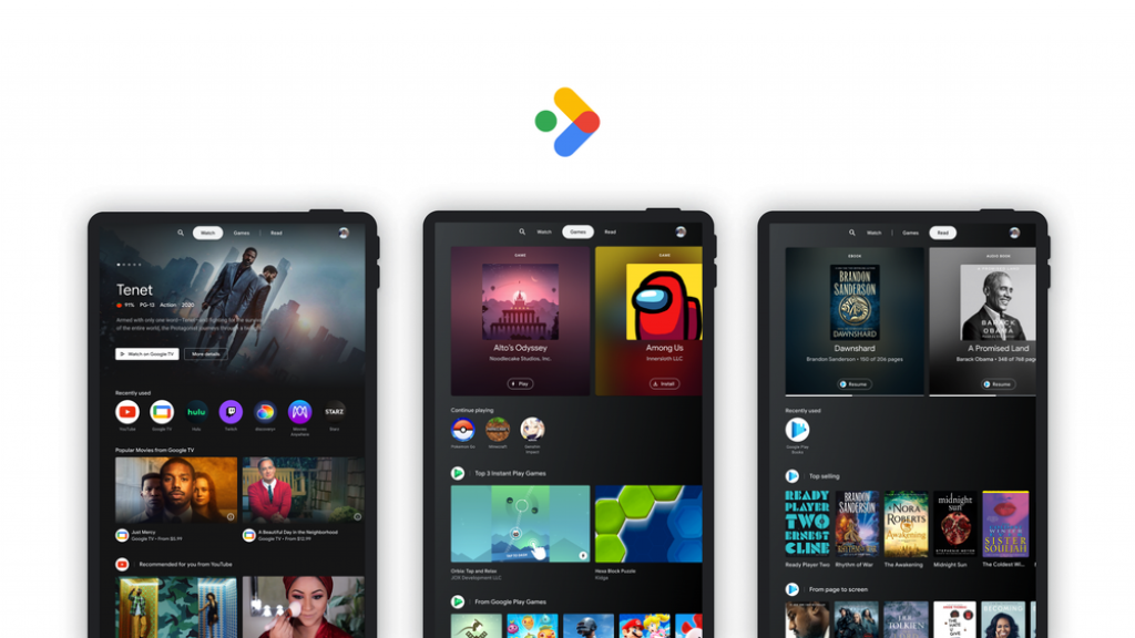 Google will consolidate your viewing, reading and reading content on an Android tablet