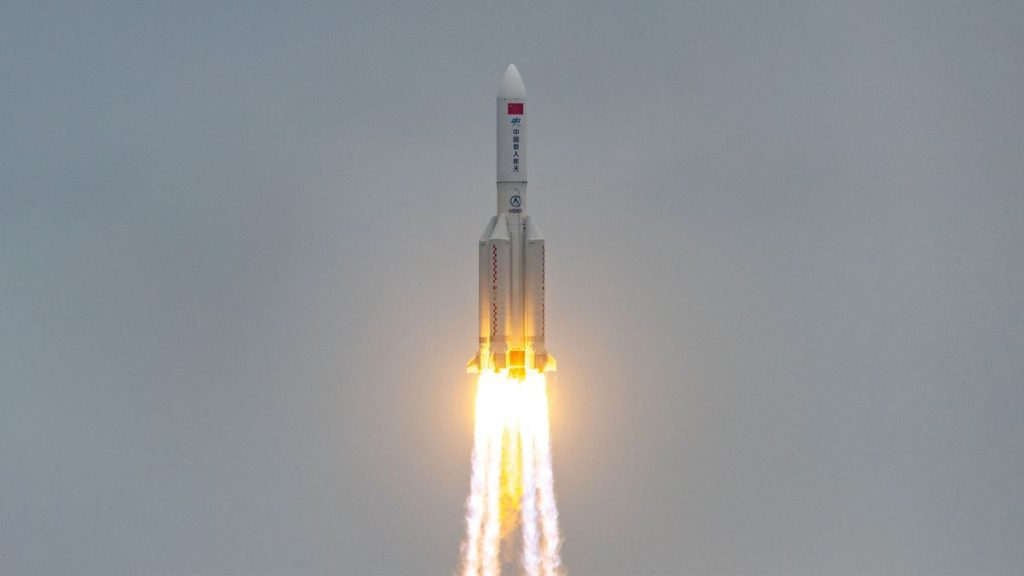 Missile debris from Chinese space station launch falls to Earth