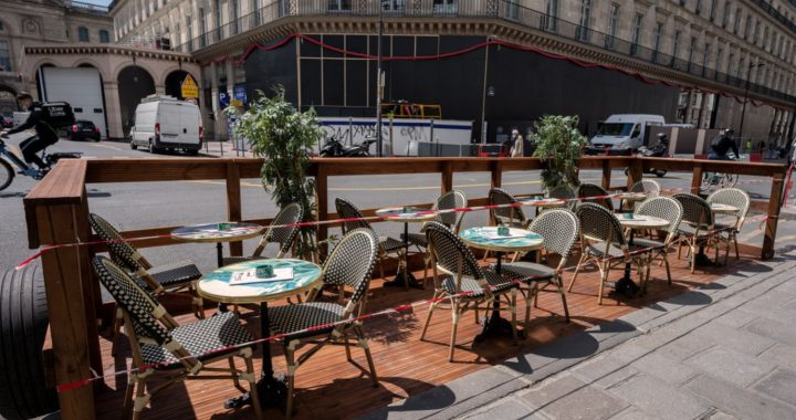 The government is removing less than 10 tables and shell terraces that require ventilation
