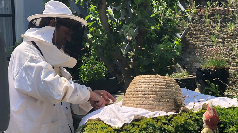 Beekeeper Eric swarms across the province to give bees a nest