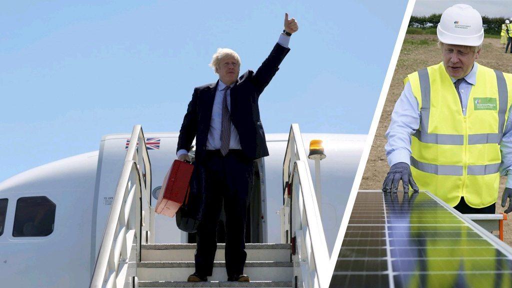 Boris Johnson criticism after short domestic flight to climate talks