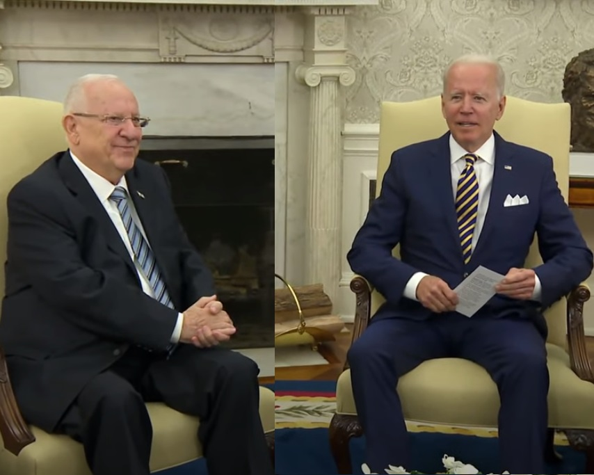 President Rivlin ontmoet President Biden