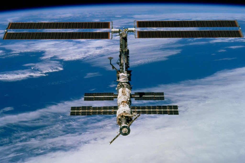 Space debris crashes into one of the robotic arms of the International Space Station