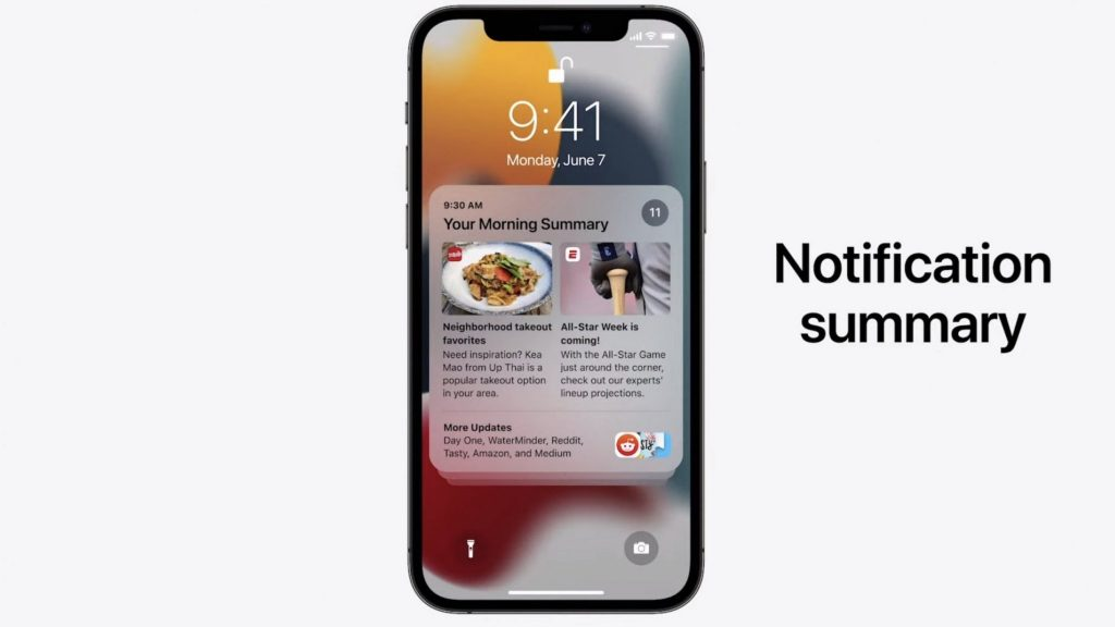 iOS 15 gets improved notifications and helps focus