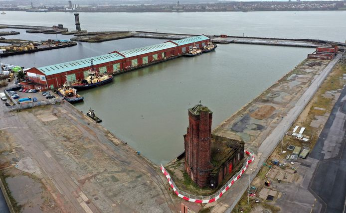 The current Bramley Moore Dock, where the new stadium is to be built with municipal and government approval.